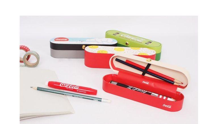 [JoyFill]Vintage Coca-Cola Design Cases Pencil Case Pouch  Stationery - Smile