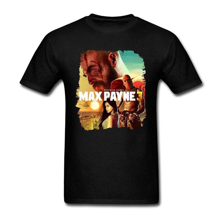 Men's Max Payne 3 Poster T Shirt #Affiliate