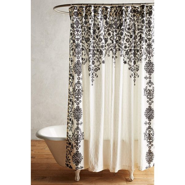 Anthropologie Oakbrook Shower Curtain 88 Liked On Polyvore Featuring Home Bed