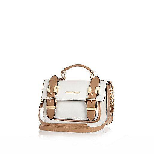 White mini satchel bag - satchels - bags / purses - women £20 #riverisland