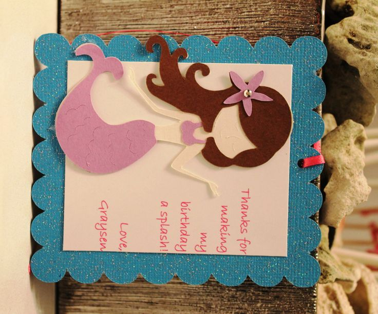Mermaid Party Favor Tags  Personalized Favor by PartyandHomeDesign, $15.00