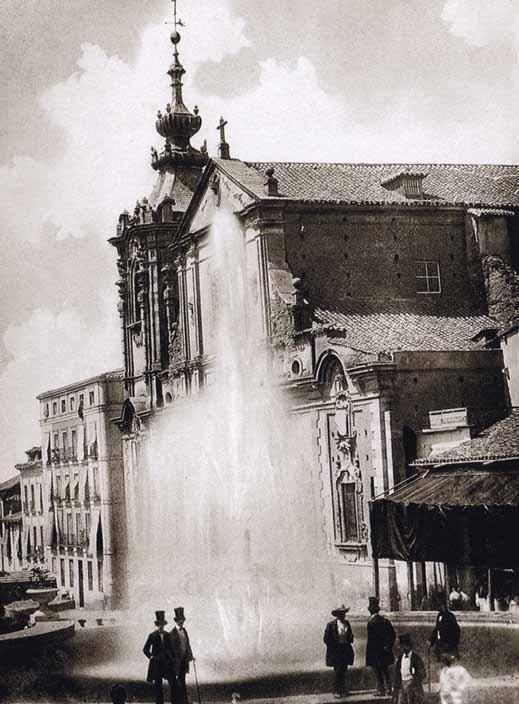 1858. Inauguración del Canal de Isabel II. Fuente iluminada con lámpara de arco voltaico