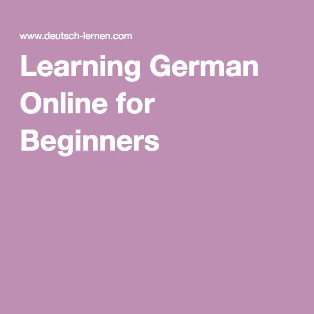 Learning German Online for Beginners