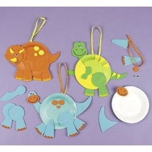 Paper Plate Dinosaur Craft Kit x 6: Amazon.co.uk: Toys & Games