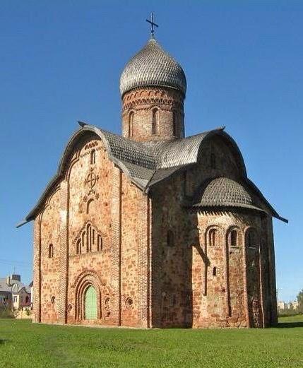 """Церковь Петра и Павла """"в Кожевниках"""". Великий Новгород, 1406 г."""