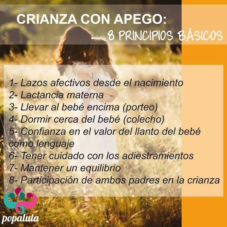 Los 8 principios básicos de la crianza con apego. Por www.facebook.com/fularesPopalula