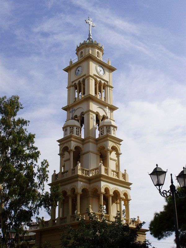 The bell-tower of Agia Fotini in Nea Smyrni, Greece