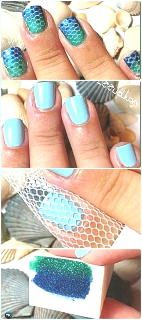 11+ Mermaid Nails Diy Boxer braids are everything….