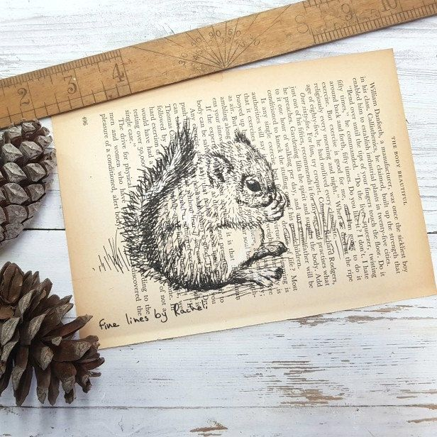 My squirrel dictionary print is ready to go to it's new home!