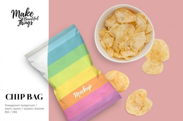 Download Potato Chips Bag Mockup Movable Isolated Hi Res Photo Elements All Items Are Made From Real Photography Bag Mockup Packaging Mockup Mockup Free Psd