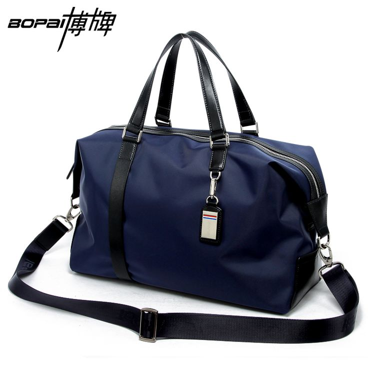 2016 Men Travel Bags Black Blue Men Tote Shoulder Travel Bag Portable Men Handbags Big Weekend Bag Women Waterproof Duffle Bag