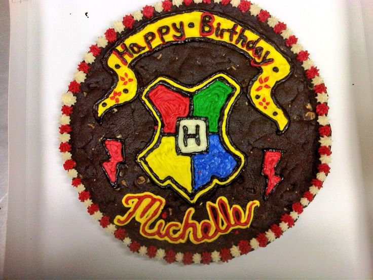 Harry Potter Themed Triple Chocolate Cookie Cake Happy