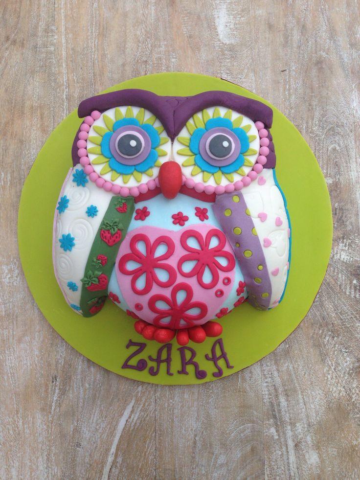 Patchwork Owl Cake Party Ideas Cake Owl Cakes