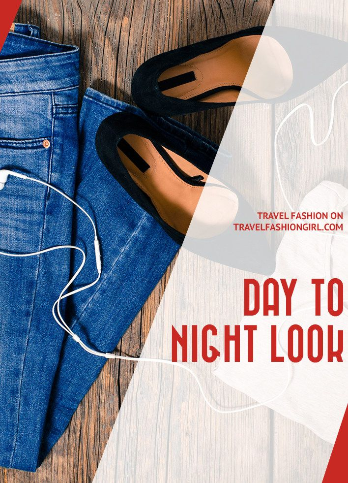 When you're traveling carry-on only, it's important to pack versatile pieces you can wear all day long. Find out how to create a day-to-night look when traveling by just swapping a few items in your luggage! via @travlfashngirl https://www.travelfashiongirl.com/best-day-to-night-travel-outfits/