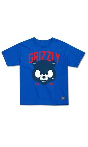 Grizzly Youth Tee Bad News Mascot - Fuel Clothing