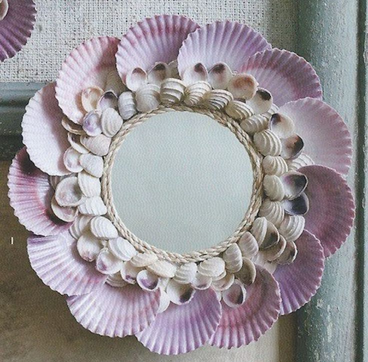 17 best images about seashells decor on pinterest shell for Decorative crafts mirrors