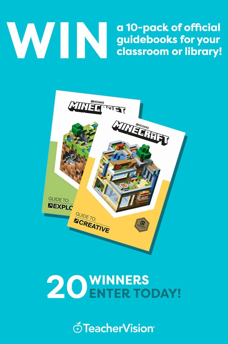 Random House and TeacherVision are giving away 20 10-packs of Minecraft's Exploration and Creative guidebooks. Enter your email to win a set of 10 for your library!
