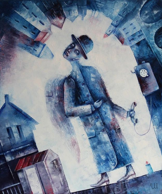 Street Angel by Eugene Ivanov, oil on canvas, 50 X 60 cm, SOLD. #eugeneivanov #@eugene_1_ivanov #modern #original #oil #watercolor #painting #sale #art_for_sale #original_art_for_sale #modern_art_for_sale #canvas_art_for_sale #art_for_sale_artworks #art_for_sale_water_colors #art_for_sale_artist #art_for_sale_eugene_ivanov