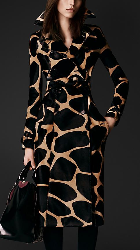 Animal Print Calfskin Trench Coat | Burberry
