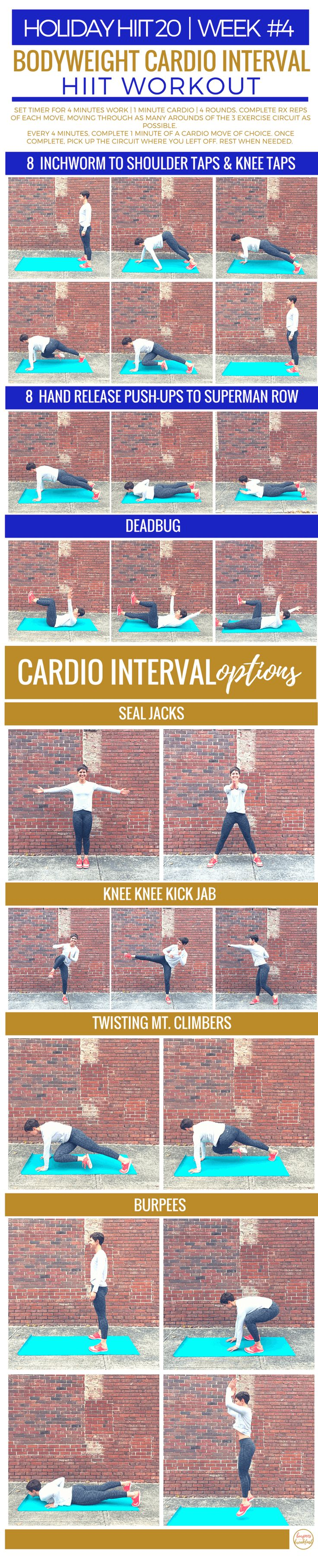 This Bodyweight Cardio Interval Workout is a perfect quickie workout. | Burpees for Breakfast