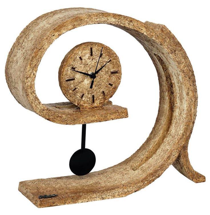 mano agujas escultura reloj reloj pndulo cermica tallada autor arte arte decoracin pintada tienda online crear