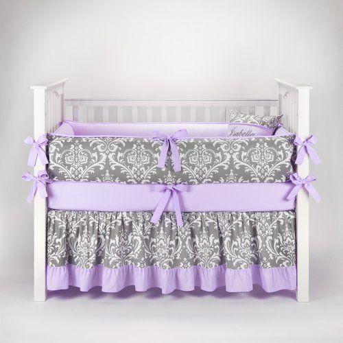 purple and teal nursery | (Grey) and Light Purple/Lilac Baby Bedding - 5pc Luxury Nursery Crib ...