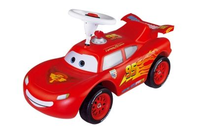 Lightning McQueen Bobby Car by BIG Ride-on car for 1+  These cars are a German classic and given for first birthdays. This model is the updated version. Fantastic quality, built to last, great to ride, fun plus it builds up the toddlers strength in their legs and is great exercise. You can buy loads of accessories including a handle to push, plastic shoes to go over the toddlers shoes so as not to scuff them up, number plates etc #1stbirthday #gift #bobbycar #giftlistguide #lightningmcqueen