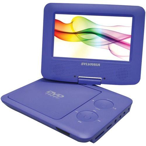 SYLVANIA SDVD7027 PURPLE 7 Swivel-Screen Portable DVD Players (Purple)