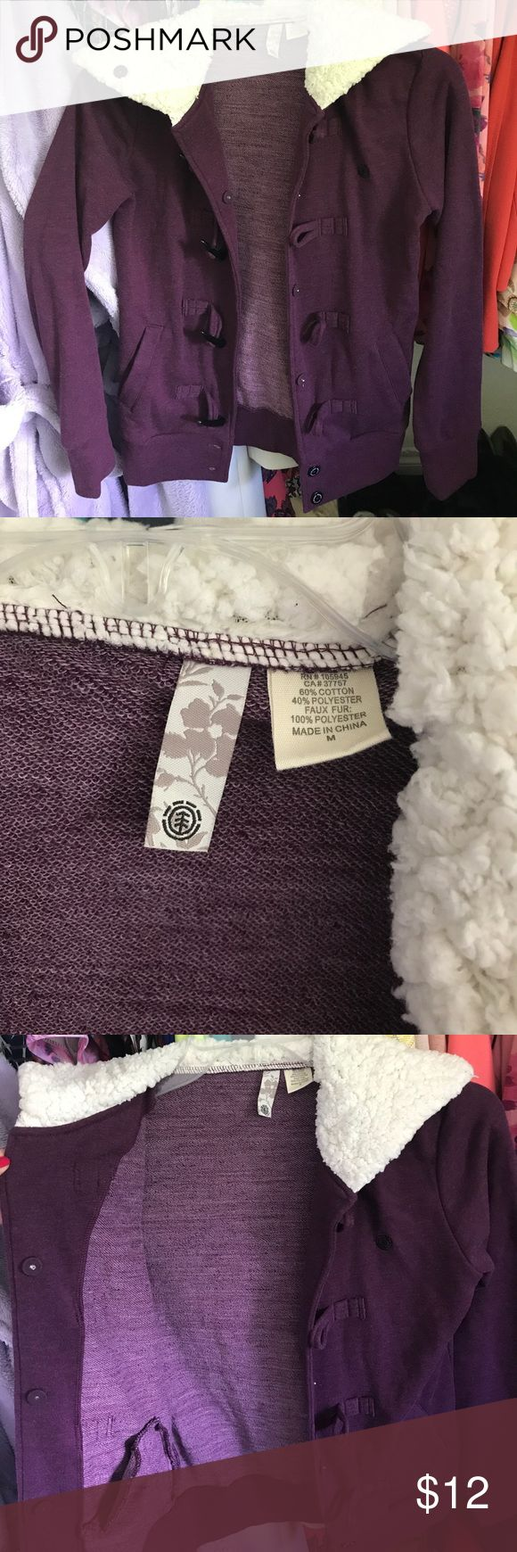 Women's Element Purple Hoodie! Size Medium! Worn maybe twice. Adorable and super comfy Women's Element Purple Hoodie. Purchased for $60 Going for $12! Element Sweaters