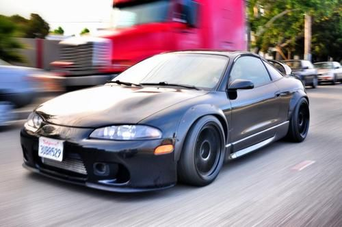 Sexiest 2g Mitsubishi Eclipse Gsx on the planet. Widebody with 10 inch rpf1's
