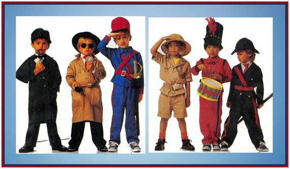 Vintage 1990 Costume Collection Sewing Pattern Sherlock Etsy Costume Collection Halloween Costumes For Kids Mccalls Sewing Patterns