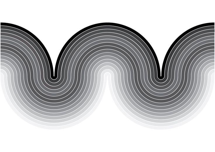 Apex Mono Mod Curve Retro Vintage Inspired Op Art by DELTANOVA