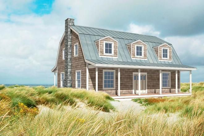 creative nice small compact adorable modern barn house design with the-seaside-barn-house-plan and has blue roofing with wooden wall