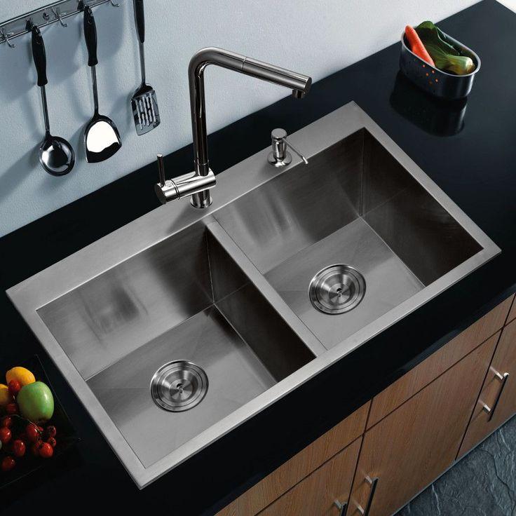 spülbecken edelstahl undermount  moderne küchenideen