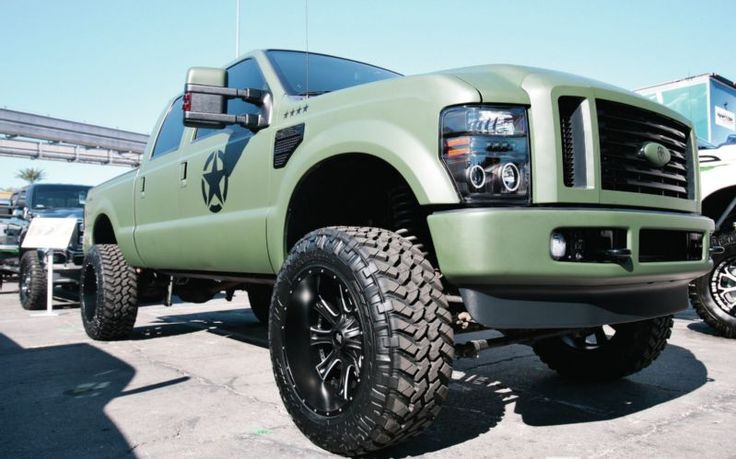 Ford Army Green 4X4 Pickup Truck  Ford  Pinterest  Olives