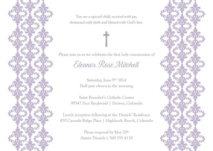 22 best images about Projects to Try on Pinterest Borders and - invitation templates holy communion