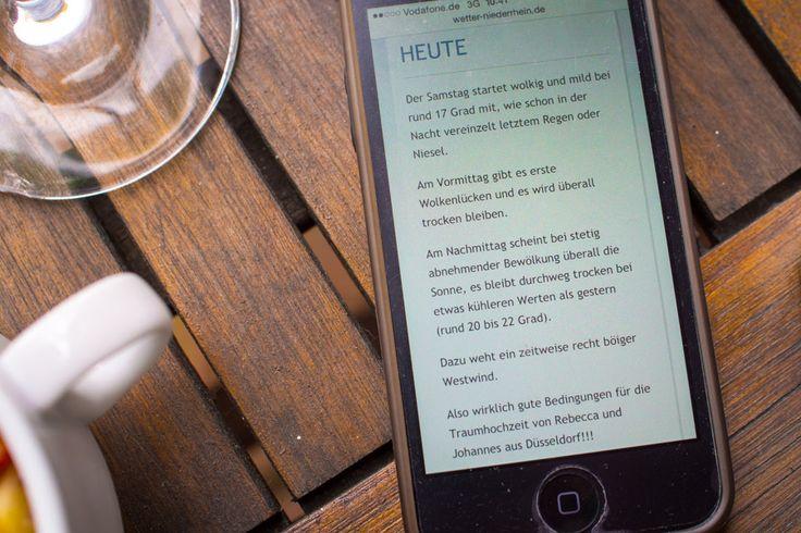 Wetterbericht für Hochzeitspaar - Hochzeitsfotograf Düsseldorf