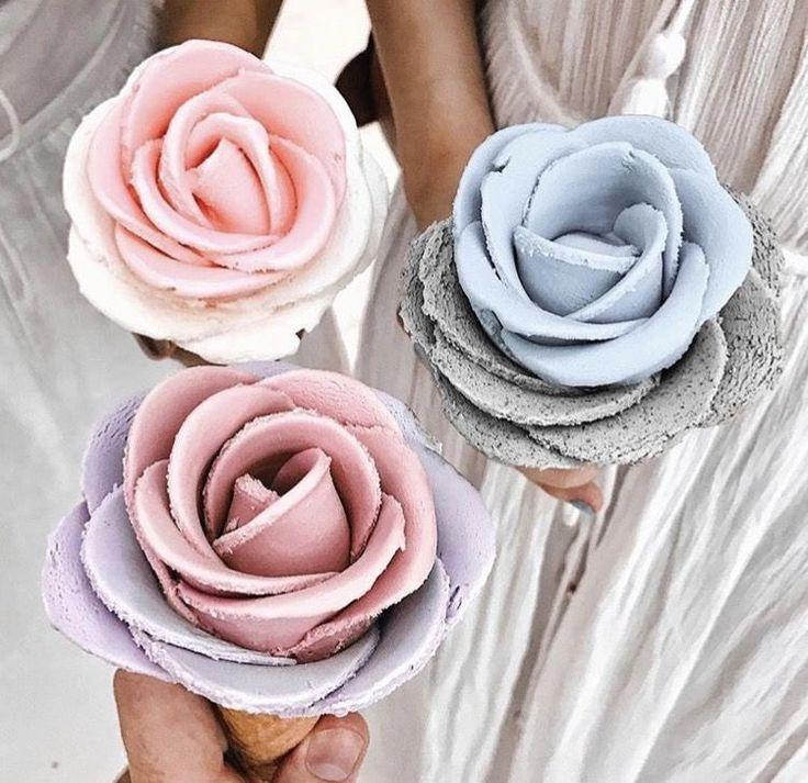 Pinterest: lowkeyy_wifeyy ✨ flower ice cream yasssss so pretty 😍