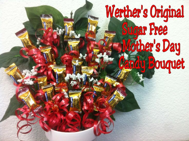 141 best mothers day images on pinterest mothers day is your mom or best friend a diabetic let them celebrate mothers day with a yummy candy bouquet made from werthers sugar free candies with this tutorial negle Images