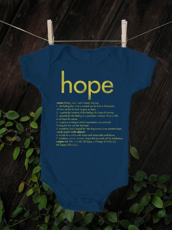 ORGANIC Hope Definition Onesie $12.99