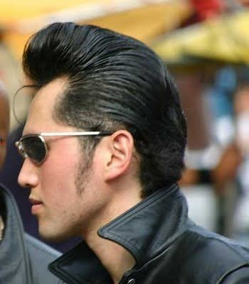 pompadour hairstyle pictures for women | Elvis-inspired pompadour