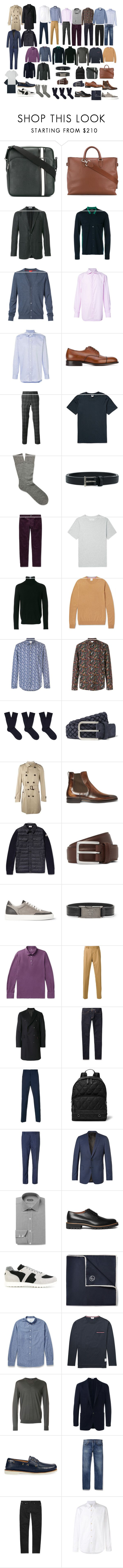 """Базовый мужской гардероб"" by alex9668 on Polyvore featuring Bally, Orciani, Boglioli, Joseph, Isaia, Brioni, Church's, Fashion Clinic, Yves Saint Laurent и Officine Générale"