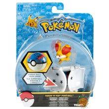 Pokemon Toy Throw 'N' Pop Pokeball with Figure - Fennekin & Great Ball