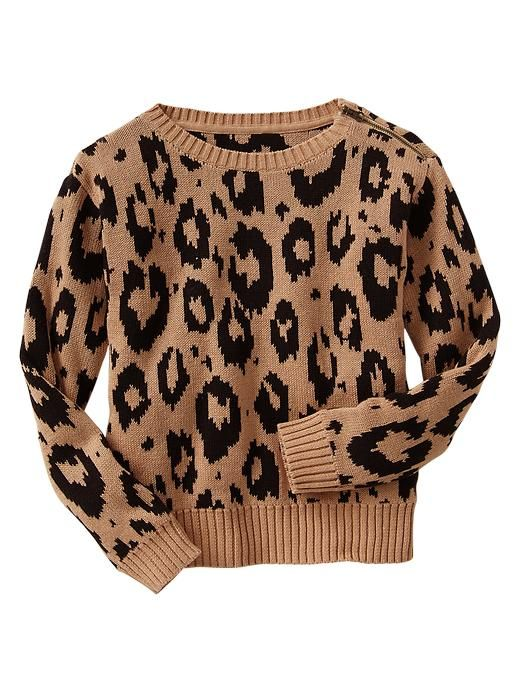 Gap leopard jacquard sweater is perfect for fall