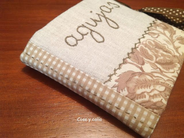Tutorial Cose y calla : ...Needlebook o Guarda-Agujas!
