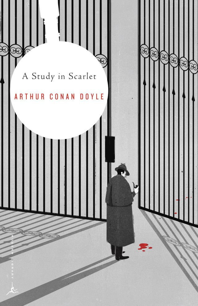 """A Study in Scarlet"" - Cover design by SHOUT for the Modern Library Series.:"