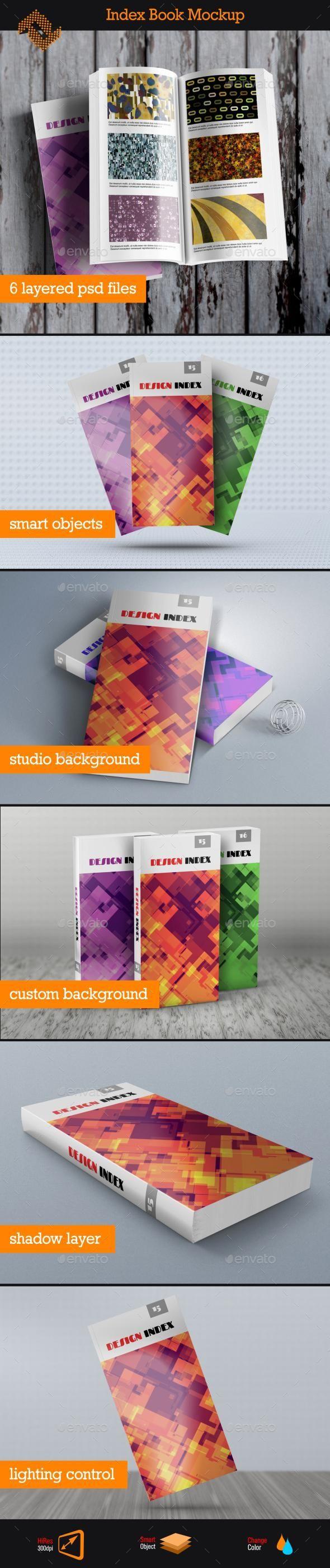 Index Book Mockup Print Mockup Graphic Design Book Cover Business Card Mock Up