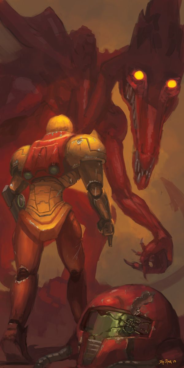 Final Battlefield Metroid Artwork By Stuart Hughe