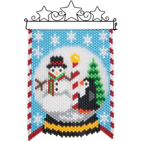 Herrschners® Northpole Snowglobe Beaded Banner Kit