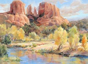 Cathedral Rock Reflections by Betty Carr Oil ~ 18 x 24